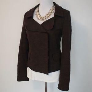 BANANA REPUBLIC Size 8 Brown Blazer Jacket